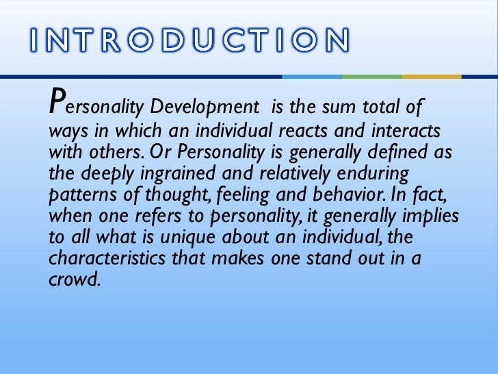 Personality development assignment pdf