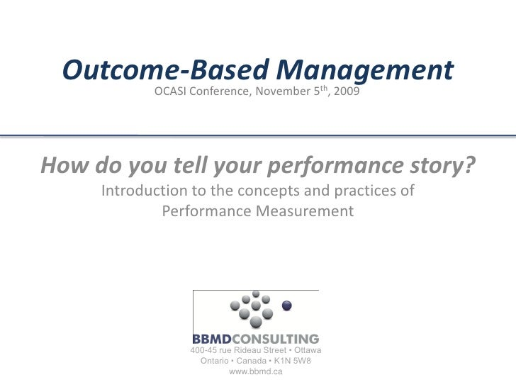 Outcome Based Management