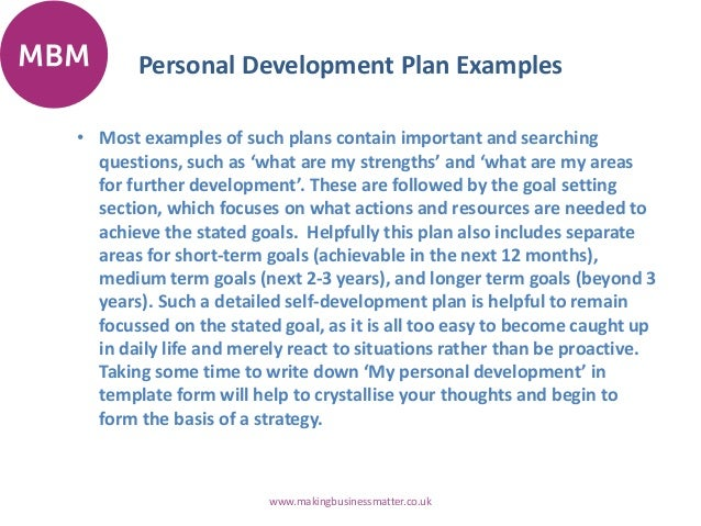 Example Of A Personal Development Plan Sample Doc951715 – Example of a Personal Development Plan Sample