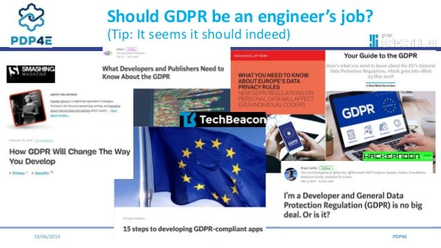 Pdp4 e privacy engineering toolkit   ipen 2019 Slide 2
