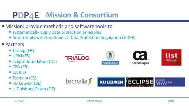 Privacy Data Protection for Engineers - PDP4E Slide 3