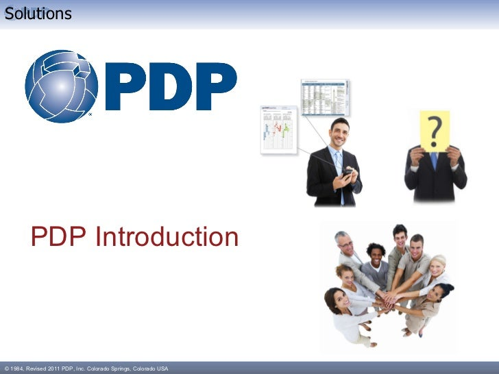 PDP Introduction Solutions