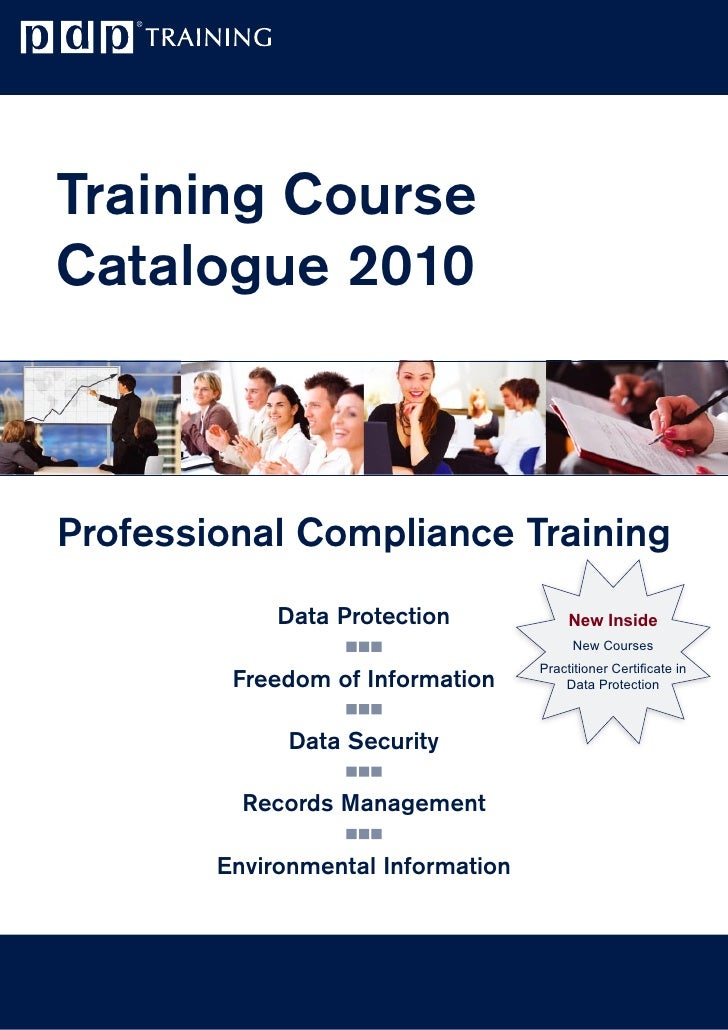 Training Course Catalogue 2010    Professional Compliance Training              Data Protection             New Inside    ...