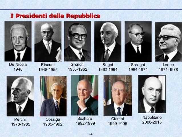 Il presidente della repubblica for Senatori della repubblica italiana nomi