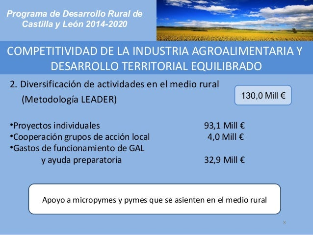 Programa de desarrollo rural de castilla y le n 2014 2020 for Rural net cool ca