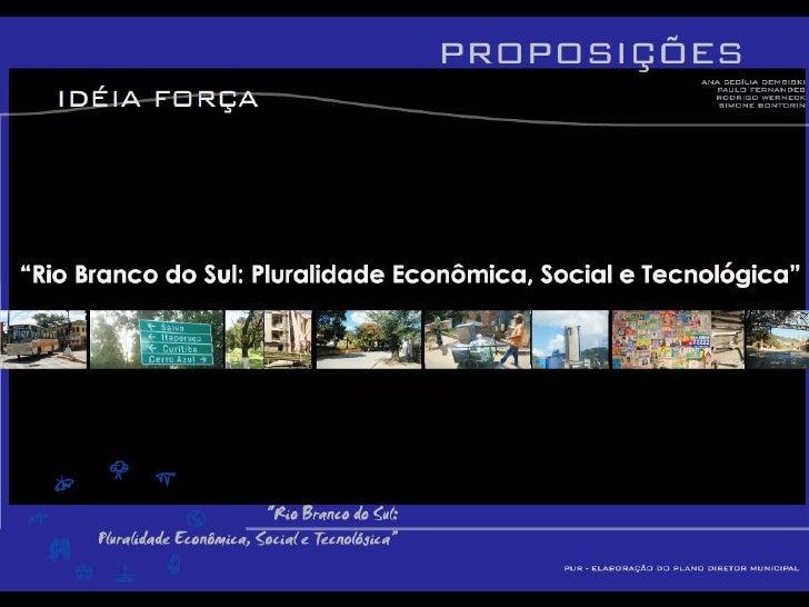 Plano Diretor de Rio Branco do Sul-PR