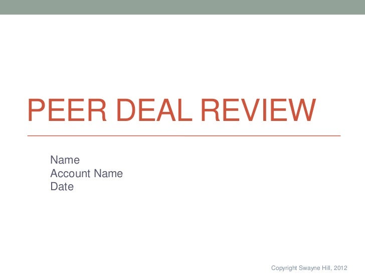 Pdr presentation template for Deal review template