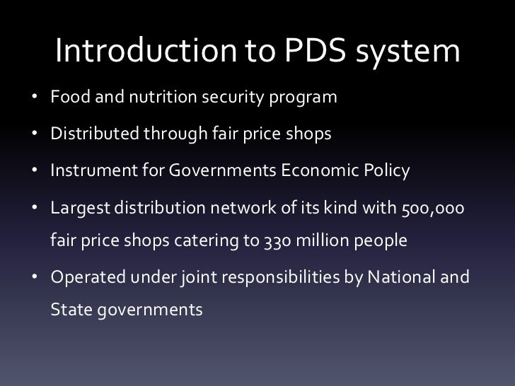 thesis on public distribution system Food security and the targeted public distribution system in india public distribution system public distribution system thesis on public distribution system.