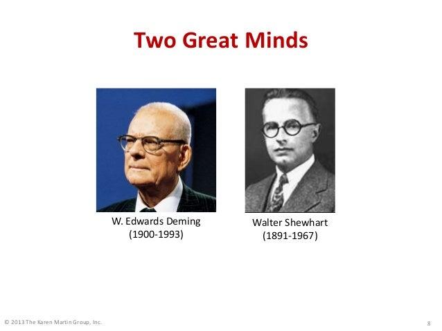 © 2013 The Karen Martin Group, Inc. Two Great Minds 8 W. Edwards Deming (1900-1993) Walter Shewhart (1891-1967)