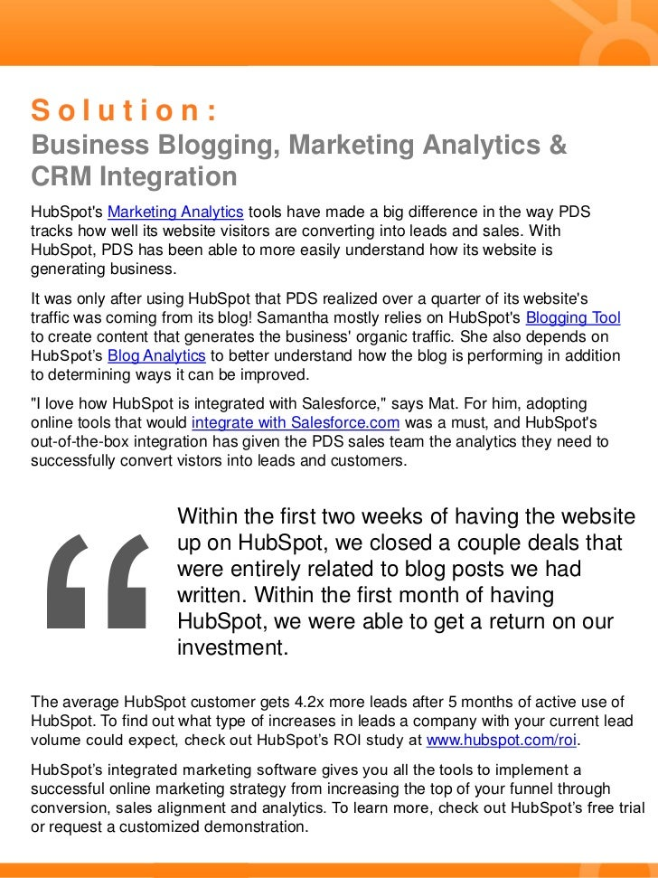 Case Study: PDS Dramatically Increases Organic Traffic With Business Blogging Slide 2