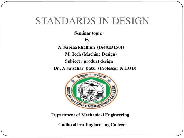 Standards In Design Presentation