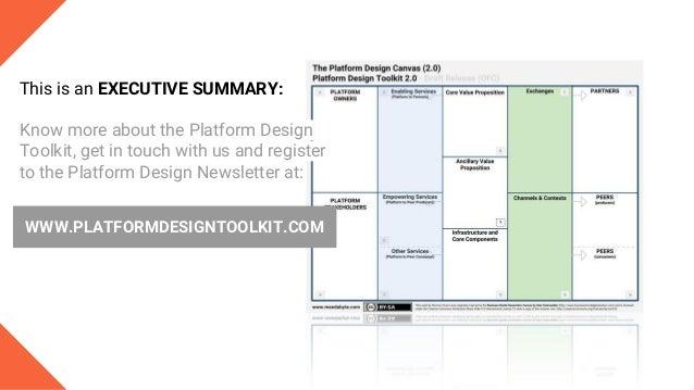 The Platform Design Tookit 2.0 Draft Launch  - Executive Summary Slide 2