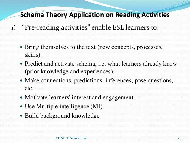 the schemata theory and reading Schema theory with special attention to content schemata, analyses the reasons of the students' failure in reading, points out that the presence or absence of the content schemata will affect the reader's reading comprehension because of the characteristics of the content schemata in terms.