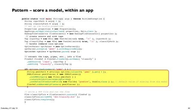 public static void main( String[] args ) throws RuntimeException { String inputPath = args[ 0 ]; String classifyPath = arg...