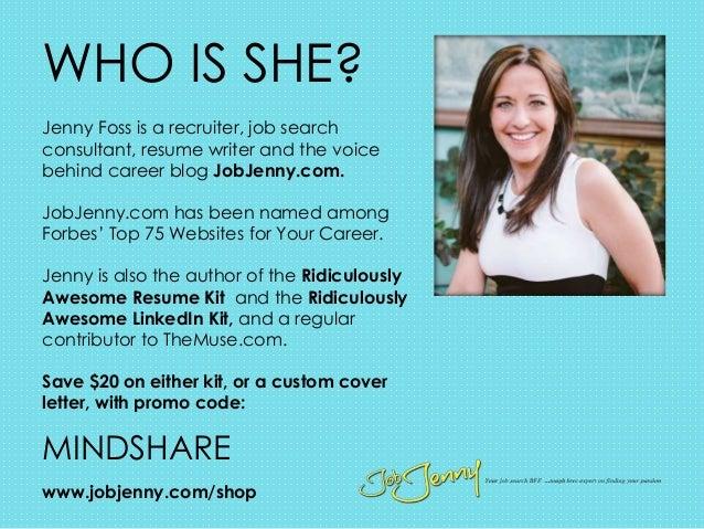 jobjenny u0026 39 s pdxmindshare presentation  create a killer cover letter