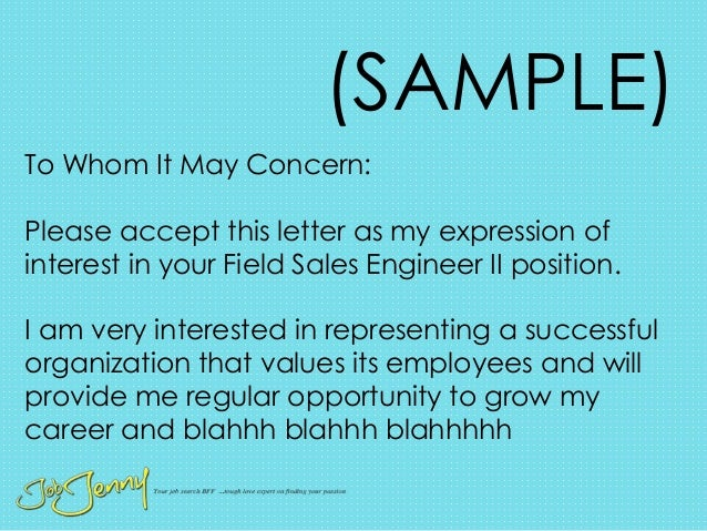 100% Original & cover letter sample to whom it may concern