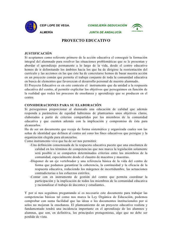 CEIP LOPE DE VEGA.                 CONSEJERÍA DEDUCACIÓN          ALMERÍA                             JUNTA DE ANDALUCÍA  ...