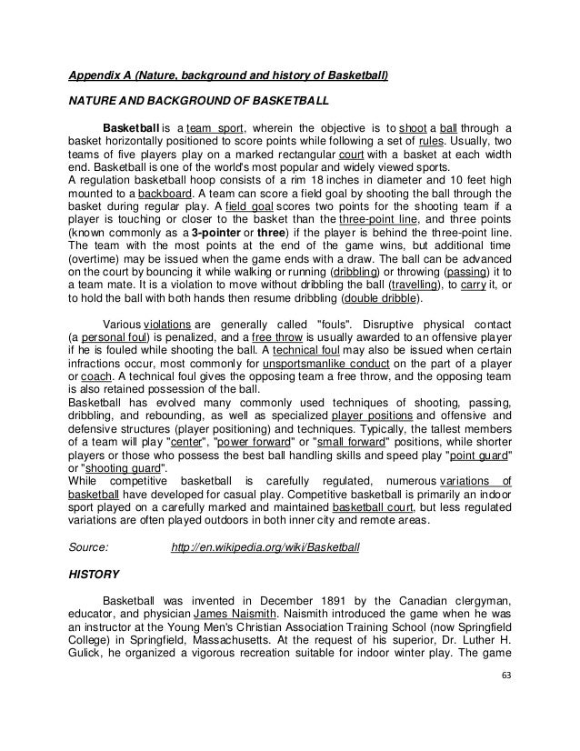 essay on basketball history Murad alim dissertation abstracts random acts of sportsmanship essay international trade benefits essay about myself writing an essay in first person views.