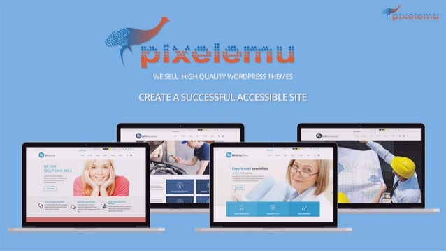 Discover  accessibility-ready WordPress themes created by PixelEmu.com
