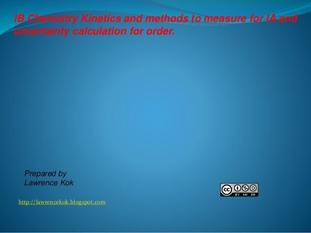 IB Chemistry/Kinetics
