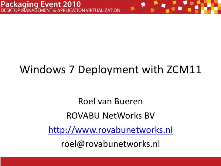 Windows 7 Deployment with ZCM11
