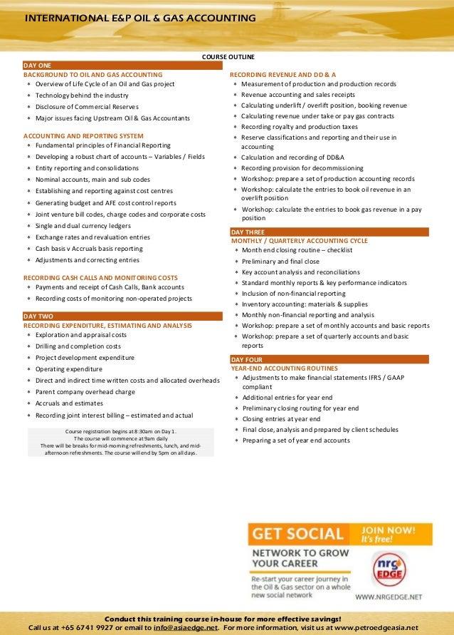 International E & P Oil & Gas Accounting