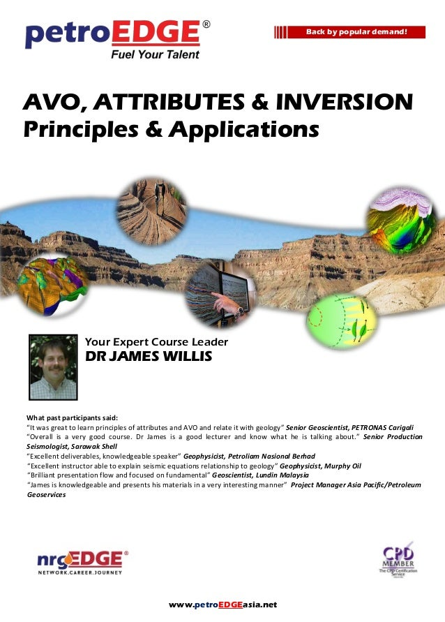 AVO and Seismic Attributes: Principles and Applications - Course Notes