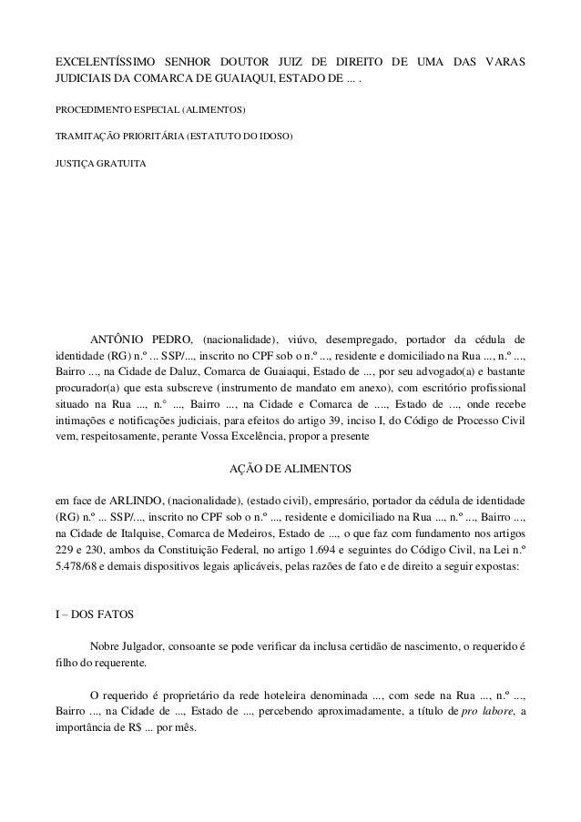 EXCELENTÍSSIMO SENHOR DOUTOR JUIZ DE DIREITO DE UMA DAS VARASJUDICIAIS DA COMARCA DE GUAIAQUI, ESTADO DE ... .PROCEDIMENTO...