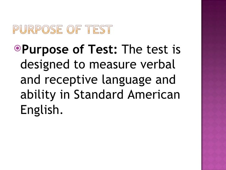 peabody picture vocabulary test manual
