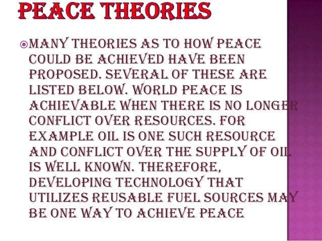 an essay on peace