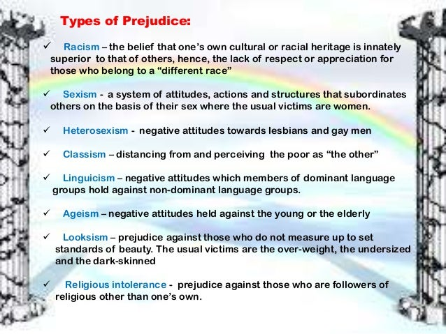 a highlight of the different forms in which discrimination is manifested Chapter 5: stereotypes, prejudice, and discrimination study play  a form of prejudice that surfaces in subtle ways when it is safe, socially acceptable, and .