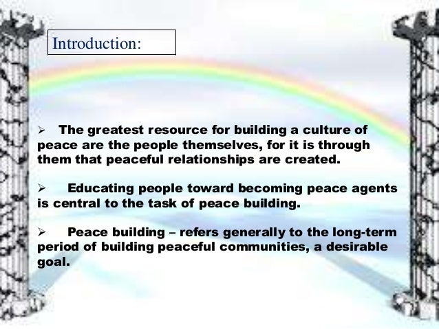 peace degree thesis