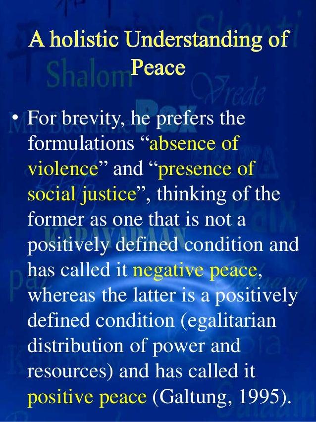 negative peace positive peace