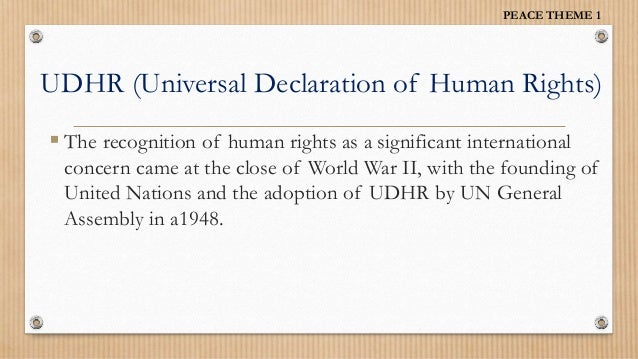 an introduction to the universal declaration of human rights Introduction the creation of the united nations in 1945 and the 1948  universal declaration of human rights brought the issue of human rights and  basic.