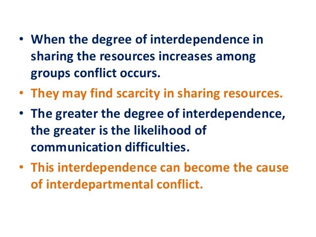 interdepartmental conflict So what can smart organizations do to prevent the perennial conflict  once  properly isolated, interdepartmental problems between sales and.