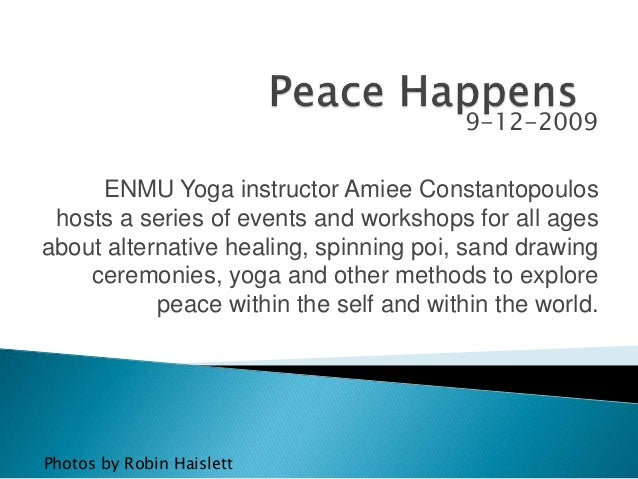 9-12-2009 ENMU Yoga instructor Amiee Constantopoulos hosts a series of events and workshops for all ages about alternative...