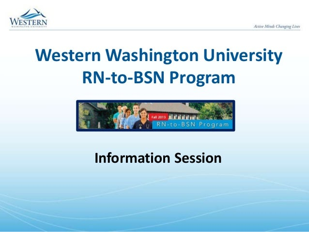 Western Washington University RN-to-BSN Program Information Session
