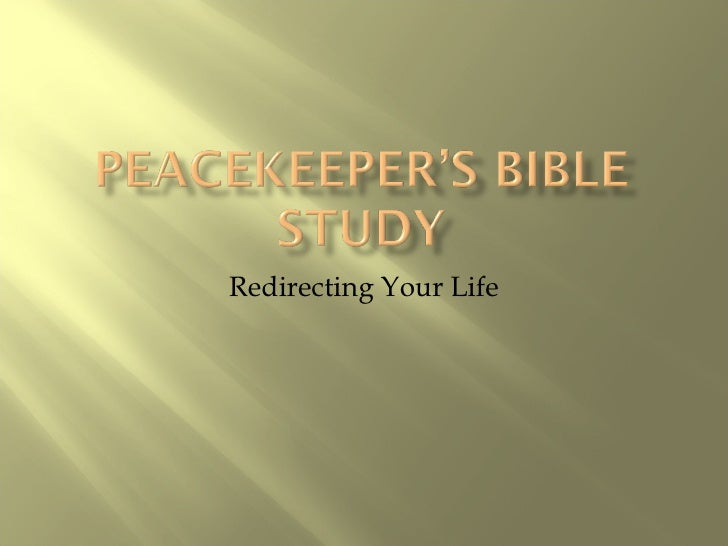 Redirecting Your Life