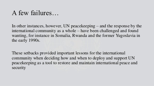upholding peace in the international community essay In the 20th century the formal study of international relations (ir) was  final  exam (20%): answering two questions in form of a short essay  the exercise of  their responsibilities towards other members of our learning community yale- nus college upholds the highest standards of integrity common to the academy.