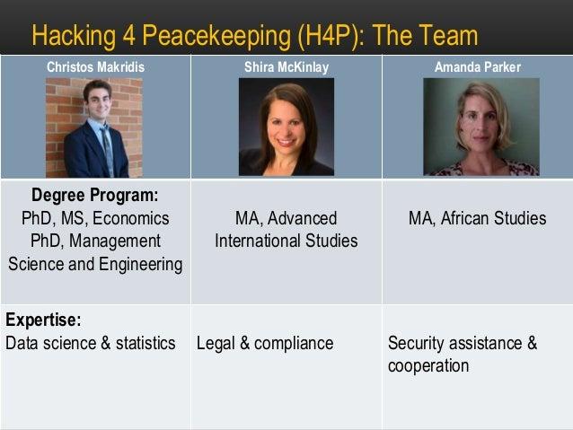Peacekeeping Lessons Learned H4Dip Stanford 2016 Slide 2