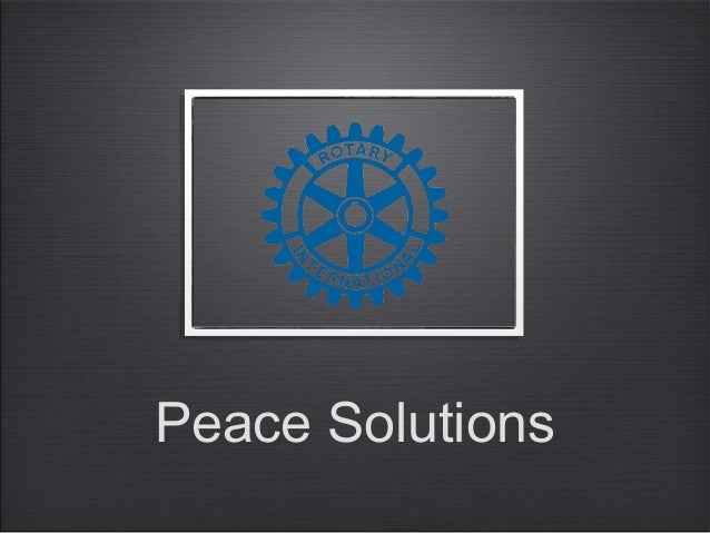 Peace Solutions