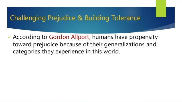 the language of prejudice by gordon allport