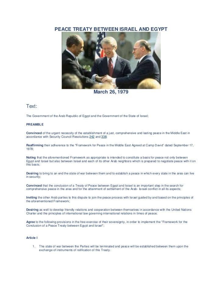 Peace Treaty Between Israel And Egypt Website Challenge