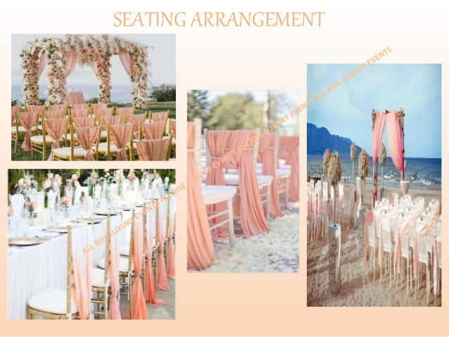 Peach Beach Wedding Theme All Rise Event Management