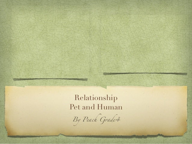 RelationshipPet and HumanBy Peach Grade4
