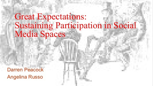 Great Expectations: Sustaining Participation in Social Media Spaces Darren Peacock Angelina Russo