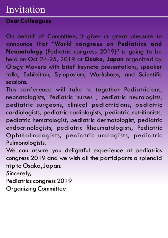 Peaditrics Congress 2019 | Pediatrics Conferences 2019