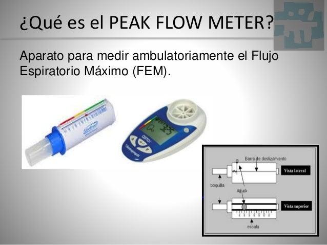 ¿Qué es el PEAK FLOW METER? Aparato para medir ambulatoriamente el Flujo Espiratorio Máximo (FEM).