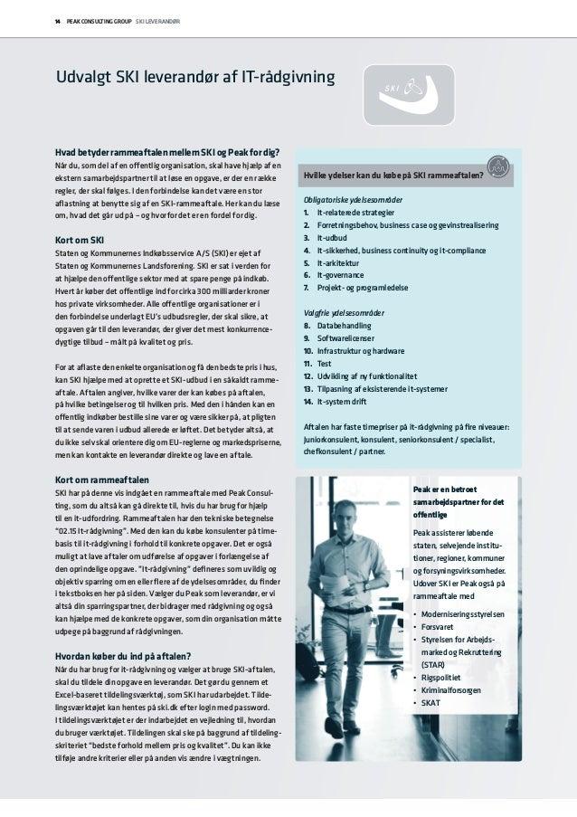 Peak ydelseskatalog | rådgivning, løsninger og kurser