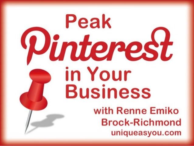 Peak Pinterest in Your Business